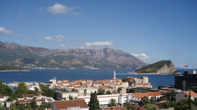 Budva, a tourist attraction in Montenegro, photographed by Bratislav Tabaš