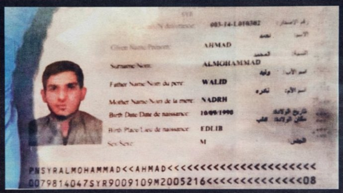 Syrian passport paris attacks